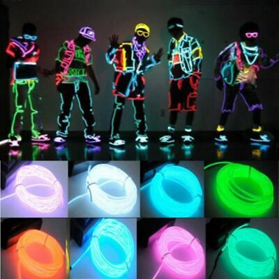 Diy Cop Costume (Wire Cable Led Neon Christmas Dance Party Diy Costumes Clothing Luminous)