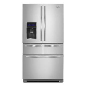 Whirlpool WRV986FDEM 26 cu. ft. Double Drawer Refrigerator with Dual Icemakers