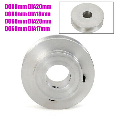 Metal 17-20mm Dia Bore V Groove Drive Belt Step Pulley Aluminum Alloy For 12.7m