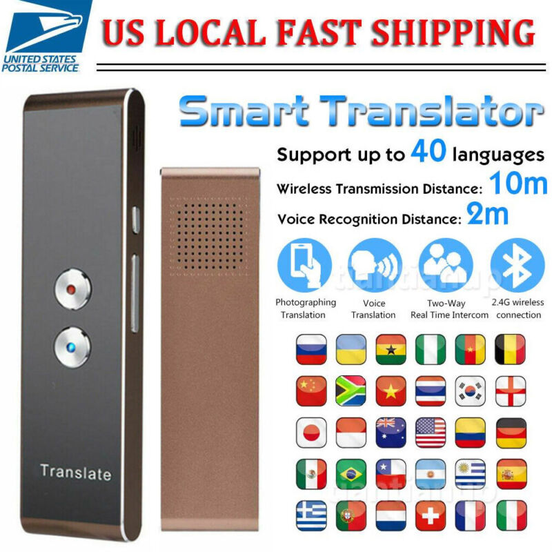 T8+ Translaty MUAMA Enence Smart Instant Real Time Voice 40 Language Translator