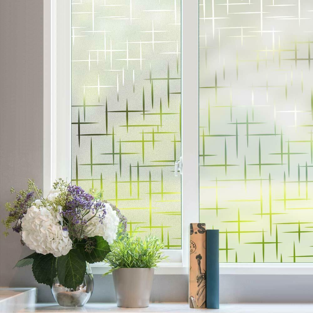 Rabbitgoo Window Film Frosted Static Cling 3D Privacy Film f