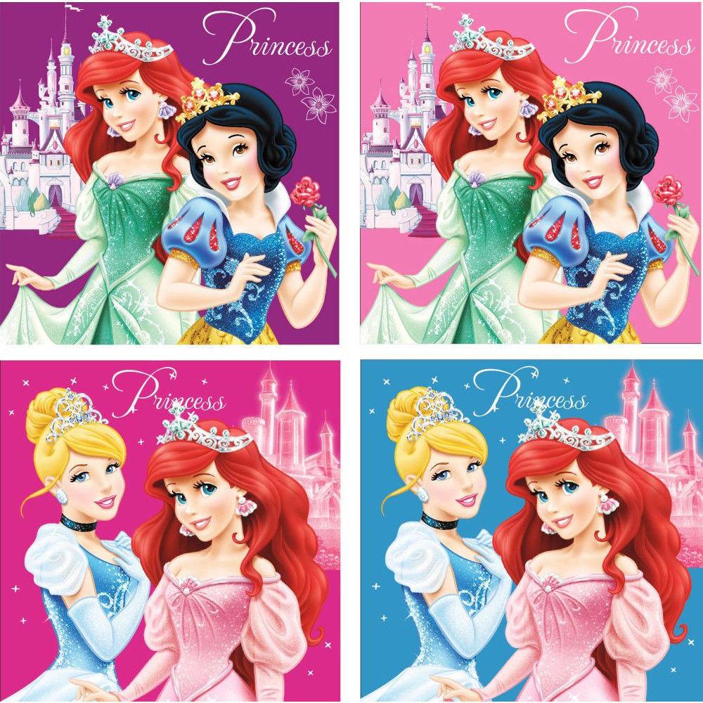 4er Set Kinderhandtuch Princess Kinderhandtücher Disney Geschenkidee Mitgebsel