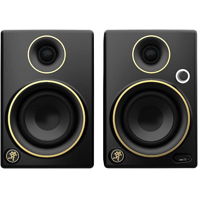 Mackie CR3 Limited Edition Gold Trim 3 in. Multimedia Monitors (Pair)