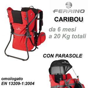 Ferrino caribou zaino porta bebe bimbo bambino con - Zaino trekking porta bimbo ...