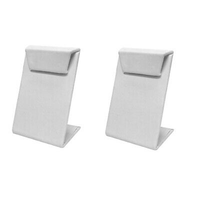 2 Pc 2-12w X 3-12h White Faux Leather Earring Display Stand Jewelry Retail