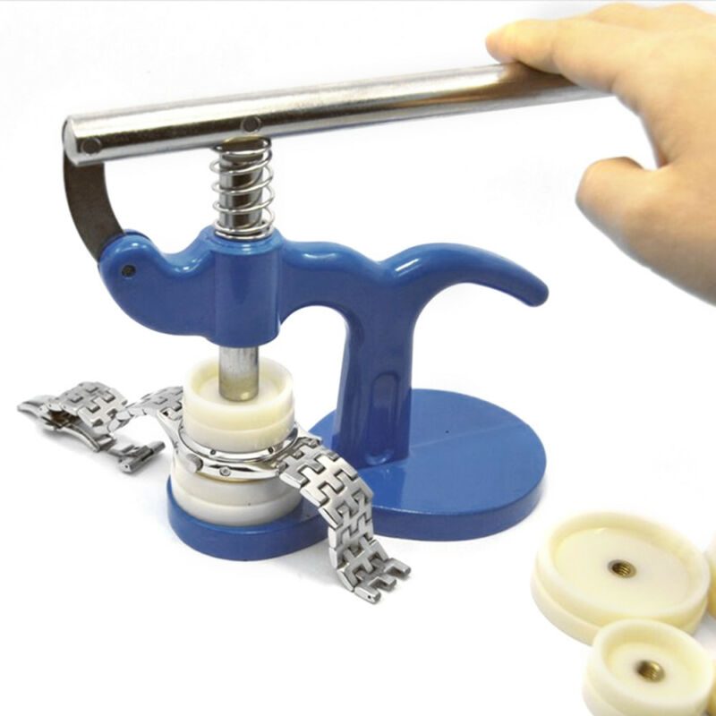 13tlg Set Einpresswerkzeug Gehäuseschließer Uhrendeckelpresse Uhrenwerkzeug