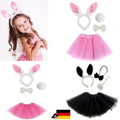 �dchen Hase Verkleiden Fasching Karneval Ostern Kostüm 4 Teile (Osterhase Mädchen)
