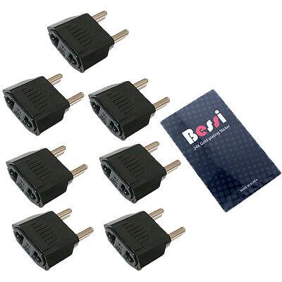 (110V to 220V) 7pcs 220V plug adapter USA to EU/ travel adapter/ converter/korea
