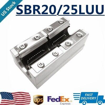 1/2/4X SBR25LUU SBR20LUU 25mm 20mm Open Linear Bearing Slide Linear Motion Block