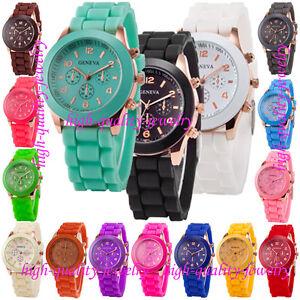 Geneva-Silicone-Golden-Quartz-Men-Boy-Lady-Women-Girl-Jelly-Wrist-Watch-Popular