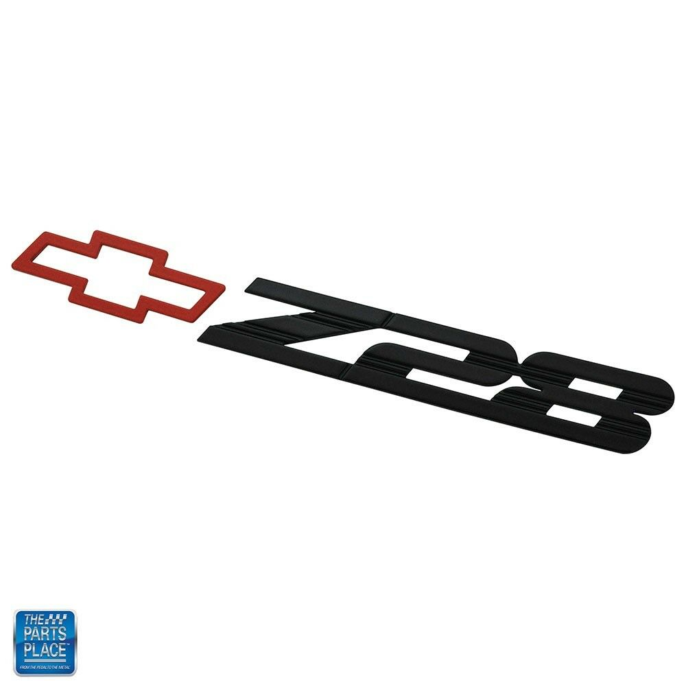 1993-2002 Camaro Rear Panel Emblem Z28 Black w/ Red Bowtie EA