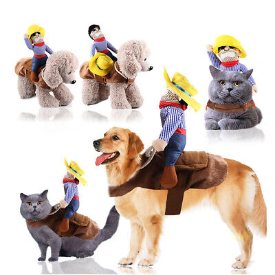 Cowboy For Halloween (Pet Dog Cowboy Rider Style Suit Halloween Festival For Party Decoration)