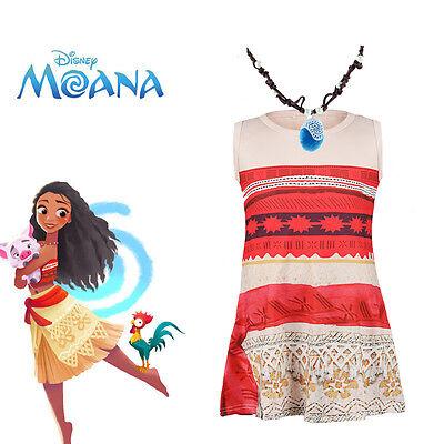 Girls Kids Animie Moana Movie Polynesia Princess Cosplay Costume Fancy Dress Up](Childrens Dress Up Clothes)
