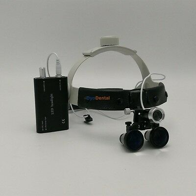 3.5x Headband Binocular Dental Surgical Loupes With 3w Led Headlight