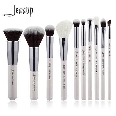 10PCS Makeup Basic Makeup Brushes Set Cheek Powder Buffer Concealer Eyeliner Kit - Basic Makeup Kit