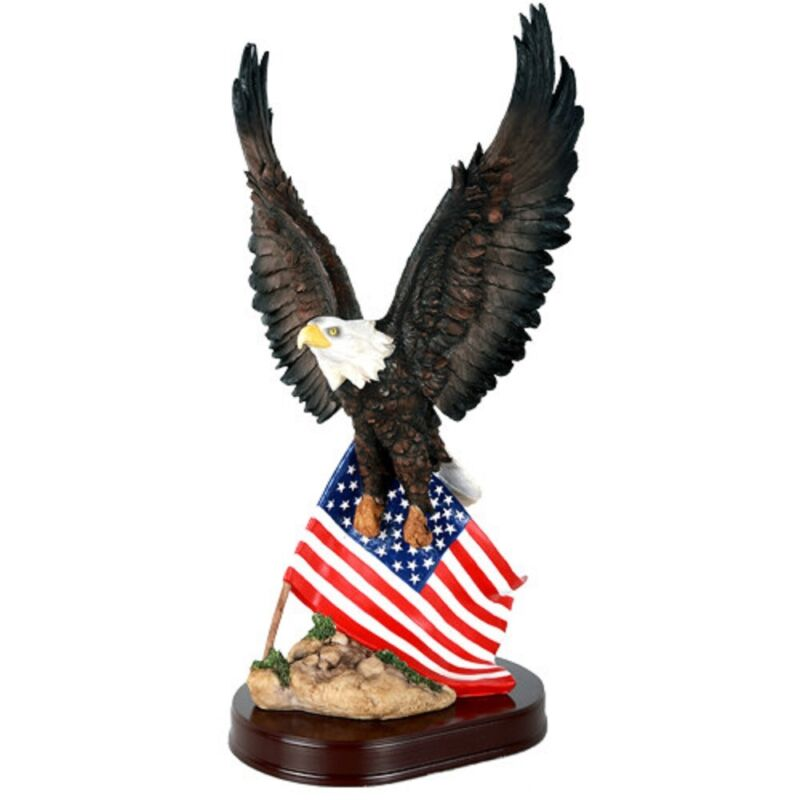 Eagle with American Flag Figurine