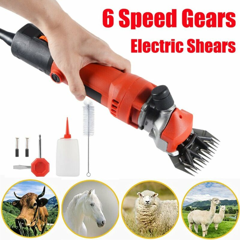 350W Electric Sheep Shears Portable Trimmer Clipper 6 Speed for Goat Llama Horse