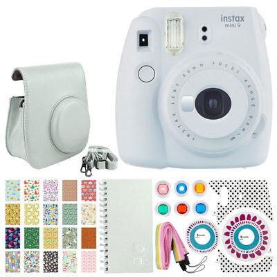 Fujifilm instax mini 9 Instant Film Camera - Smokey White + Full Accessory Kit!