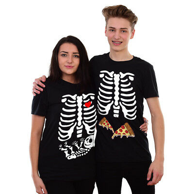 Maternity Baby Skeleton Halloween T Shirt Top Bones Funny Scary Pregnant #SKLPZ