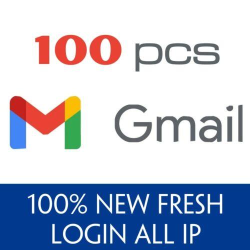 100 New Gmail Google Accounts - Verified and Guarantee - New Fresh - Fast