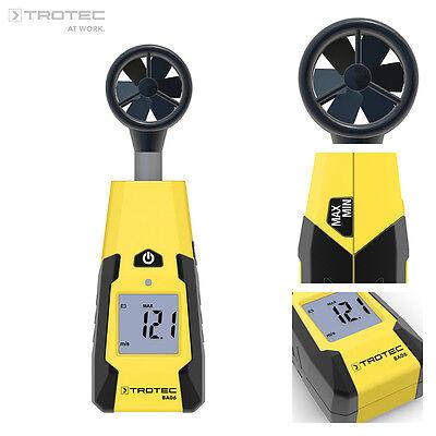 TROTEC BA06 Flügelrad Anemometer Windmesser Windmessgerät Windgeschwindigkeit
