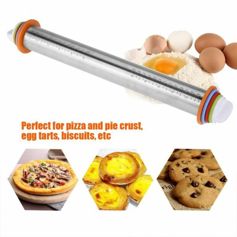 Non-Stick Removable Rings Mat Dough Roller Bakeware Rolling