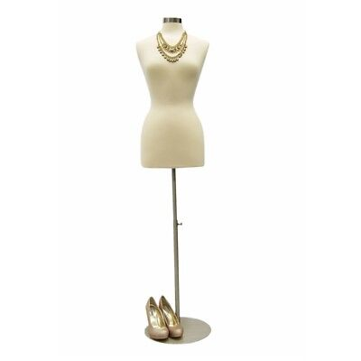 Size 6-8 Female Mannequin Dress Formround Metal Base Jf-fwp-w Bs-04