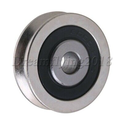 6x30x8mm U-groove Sealed Wire Track Guide Steel Pulley Ball Bearing 355kg