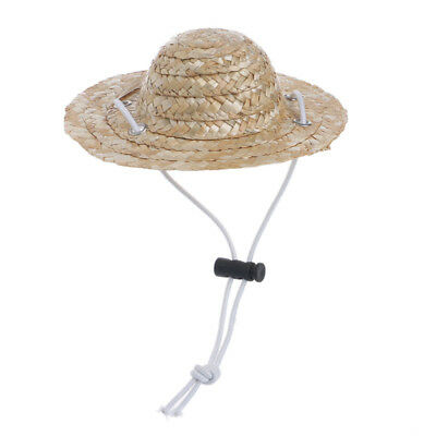 Small Cool Accessories Sombrero Sun Pet Straw Hat Dog Caps Hawaiian Style Cat](Dog Sombrero)