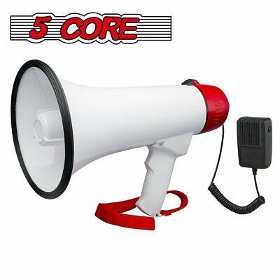 Megaphone Bullhorn PA Cheer Loudspeaker + Siren + Sling + Mu