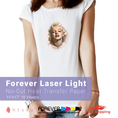 Forever Laser Light No-cut Heat Transfer Paper 11 X 17 - 10 Sheets