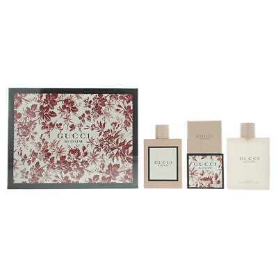 Gucci Bloom Eau de Parfum 100ml, Perfumed Soap 100g & Body Oil 100ml Gift Set
