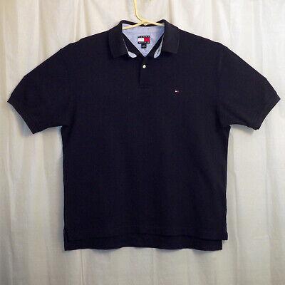 Tommy Hilfiger Polo Shirt Men's Large L Blue