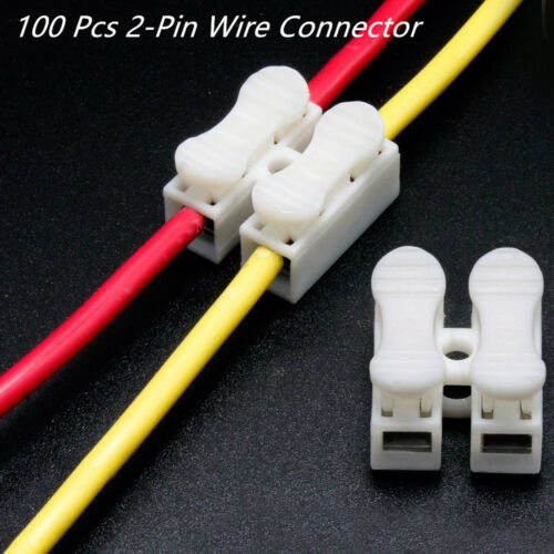 100 Pcs Autos Off-Road 2-Pin Electrical Wire Connectors Lock Cable Terminals Kit