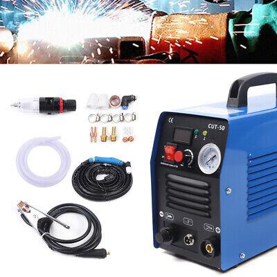 Air Plasma Cutter Cut50 50a Cutting Machine Digital Inverter W Cooling Fan 110v