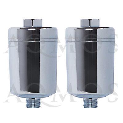 2 x Aqmos Duschfilter Chrom Dusche Wasserfilter Kalk Badfilter Haut