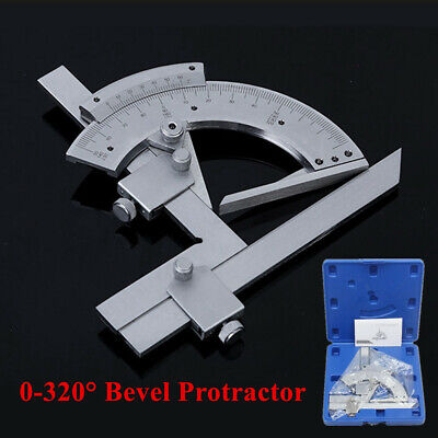 0-320 Universal Bevel Protractor Machinist Angle Measurement Accurate Tool Set