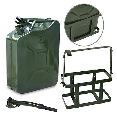 2Pack Jerry Can 5 Gallon 20L Fuel Army Backup Military Metal Steel Tank Holder Air Intake & Fuel Delivery