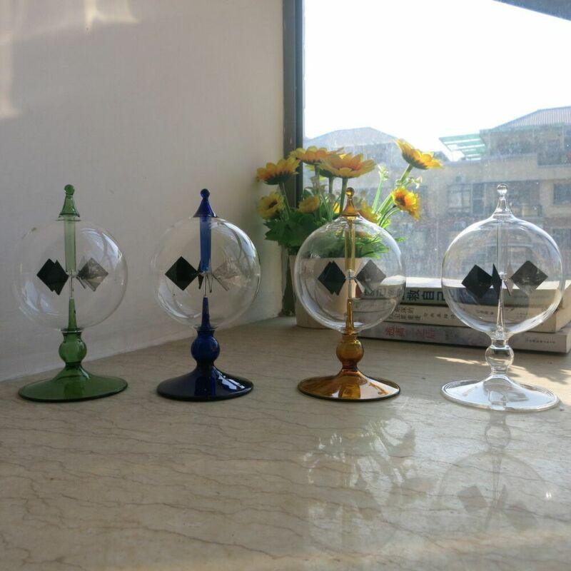 Science Education Toys Crystal Crookes Radiometer Solar Light Mill