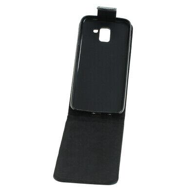 Flip Case Etui Handytasche Tasche Hülle f. Samsung SM-J600F / J600F (Schwarz)