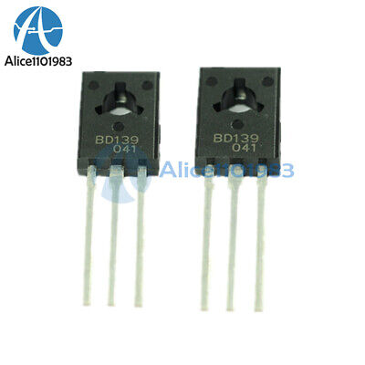 50pcs Bd139 Transistor Npn 1.5a 80v To126 Bd139