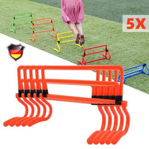 5X Trainingshürden Minihürden Koordinationshürden Hürden Minihürden Set PVC NEU