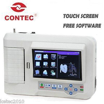 Contec ECG600G 6 Channel 12 Leads, ECG/EKG Machine Color Touch Screen+ Software
