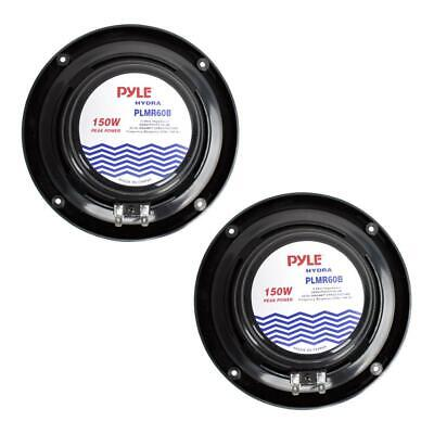 Lot Of 4 Pyle PLMR60B Dual 6.5-Inch Waterproof Marine Speakers Full Range - $50.29