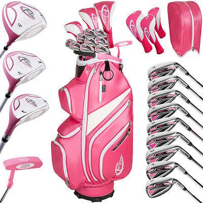 Damen Golf Set Golfschläger Komplettset Graphit mit 13 Schläger und Tasche Bag