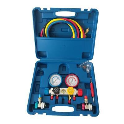 Hvac Ac Manifold Gauge Set Refrigeration Kit R404a R410a R22 5ft Highlow Side
