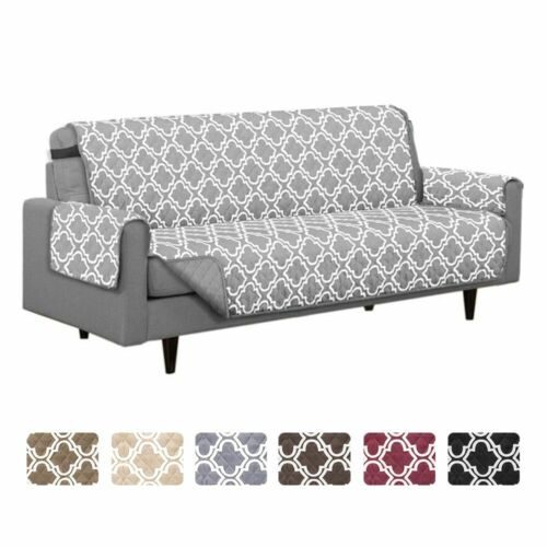 Reversible Quilted Furniture Protector Sofa Cover Slipcover
