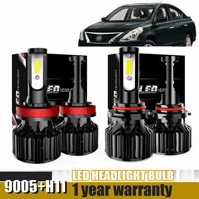 9005+H11 Combo LED Headlight High&Low Beam 6500K 120W 26400LM Error Free