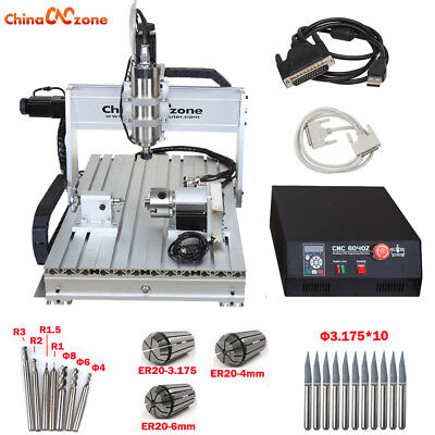 2200w Cnc 6040 Router 4 Axis Mach3 Usb Engraver Engraving Machine Ball Screw