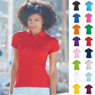 Fruit of the loom Damen Poloshirt Premium Lady Fit Frauen Polo Shirt Baumwolle  (Frauen Polo-shirts)